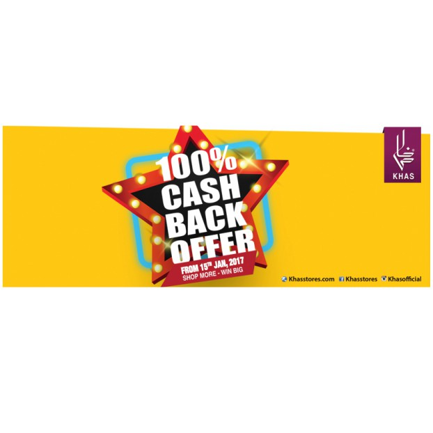Khas brings you an unbelievable offer | 100% cashback on your purchase