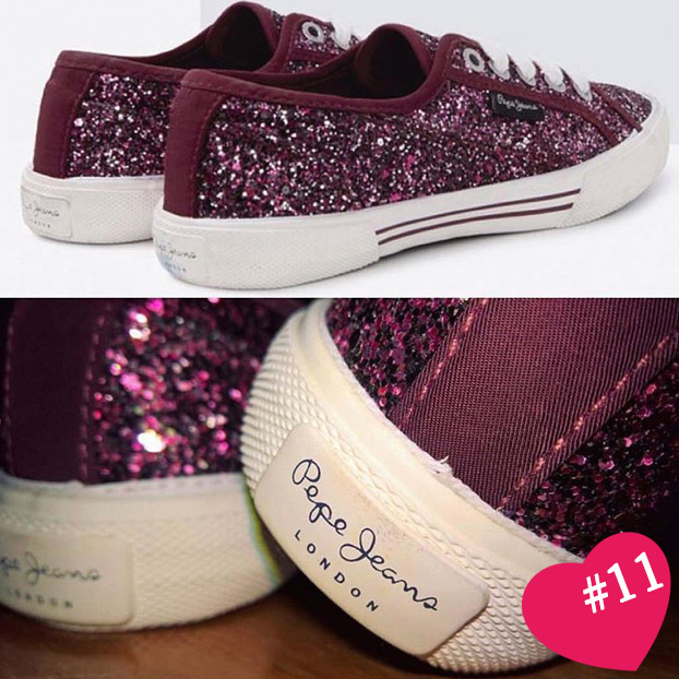 Glitter Sneakers by Pepe Jeans